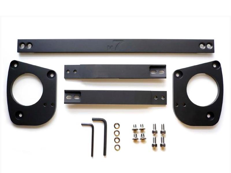 M7 Speed 53-5M7102 Black Anodized Strut Tower Brace Kit Mini R53 Cooper S 02-06