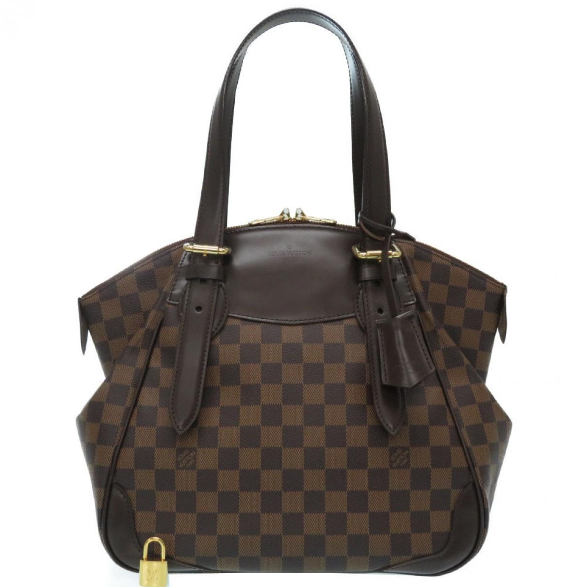Louis Vuitton - Sac a main Verona pour femme en toile - marron