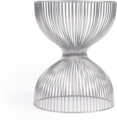 3318220 Nicholas Collection End Table in Silver