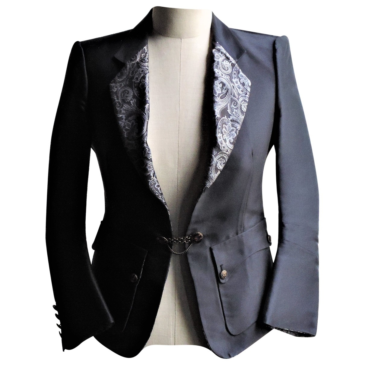 Balenciaga - Veste   pour femme en soie - anthracite