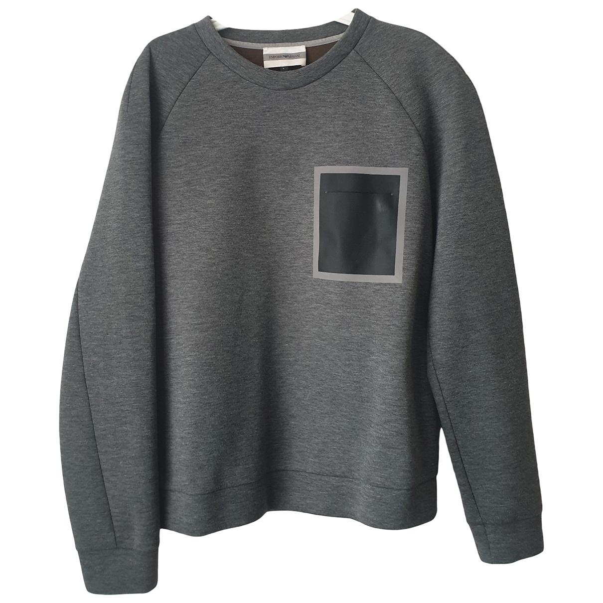 Emporio Armani N Grey Cotton Knitwear & Sweatshirts for Men L International