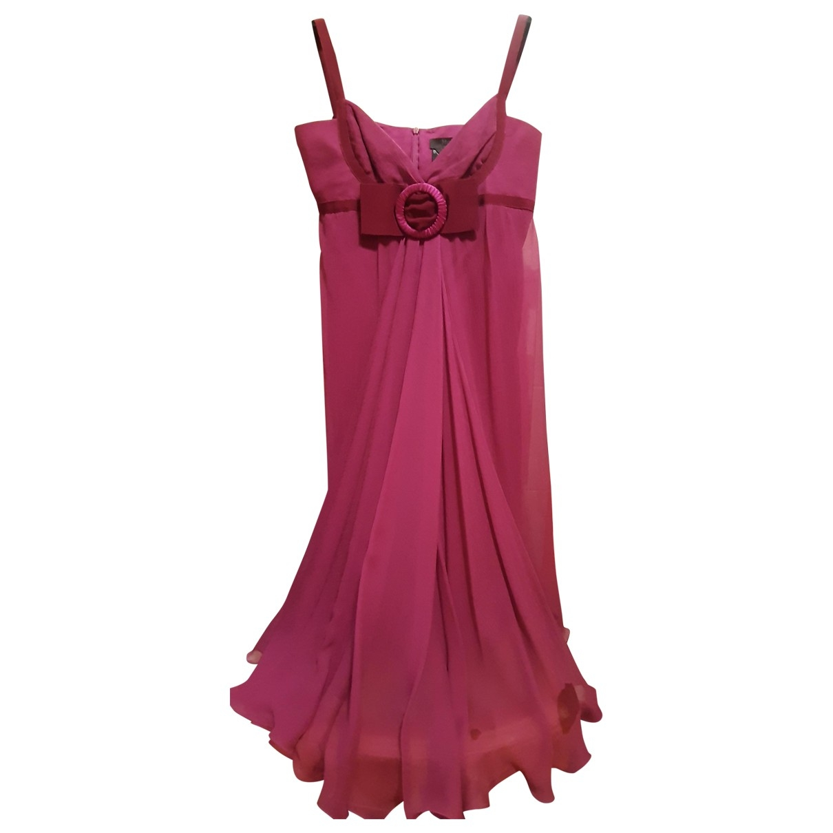 Max Mara Weekend \N Burgundy Silk dress for Women 42 IT