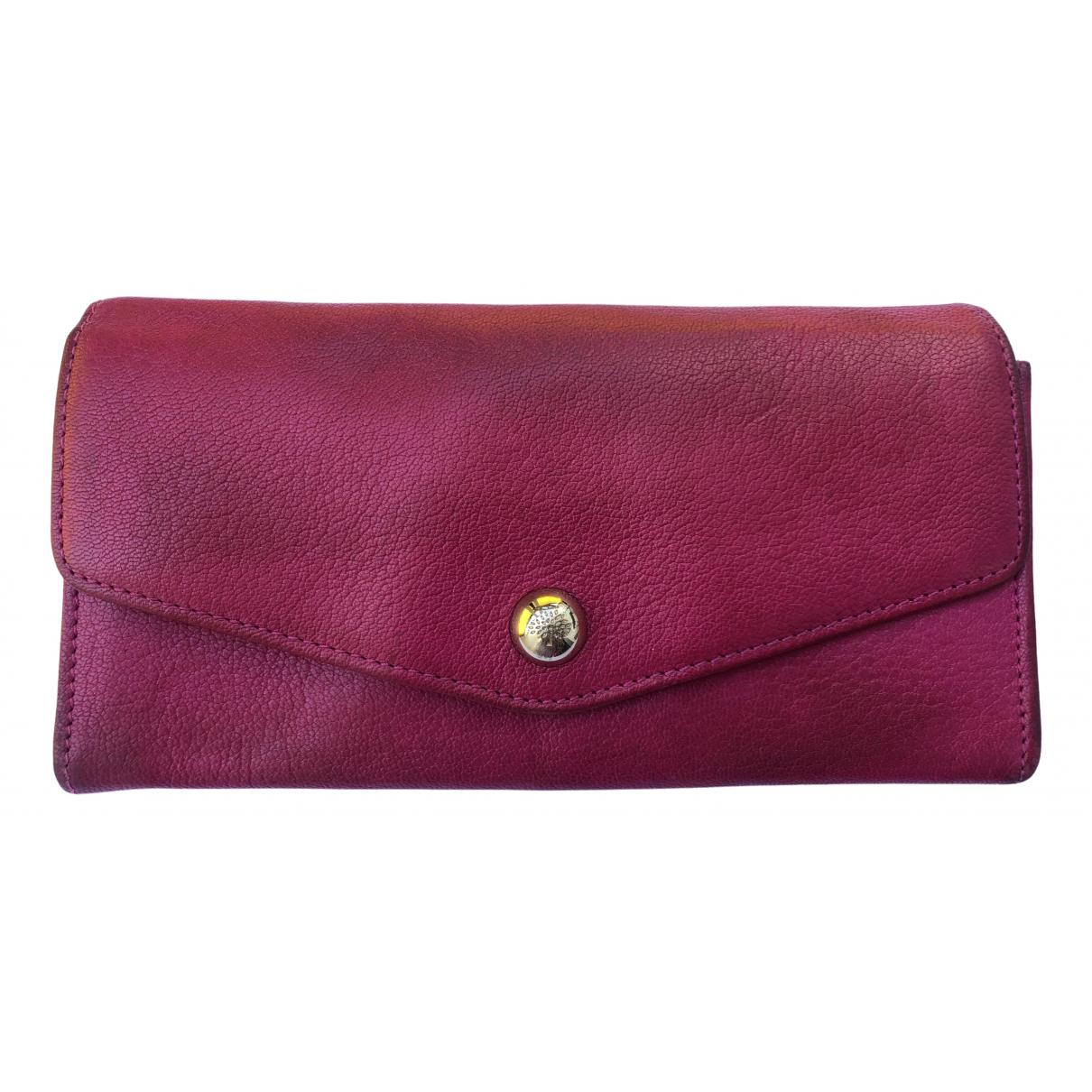 Mulberry - Portefeuille   pour femme en cuir - rose