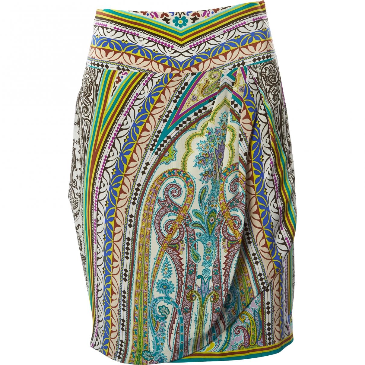 Etro \N Multicolour Silk skirt for Women 38 IT