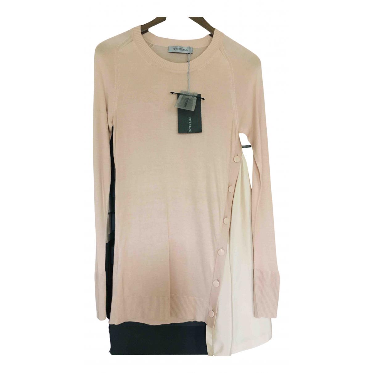 Sport Max - Pull   pour femme en soie - rose