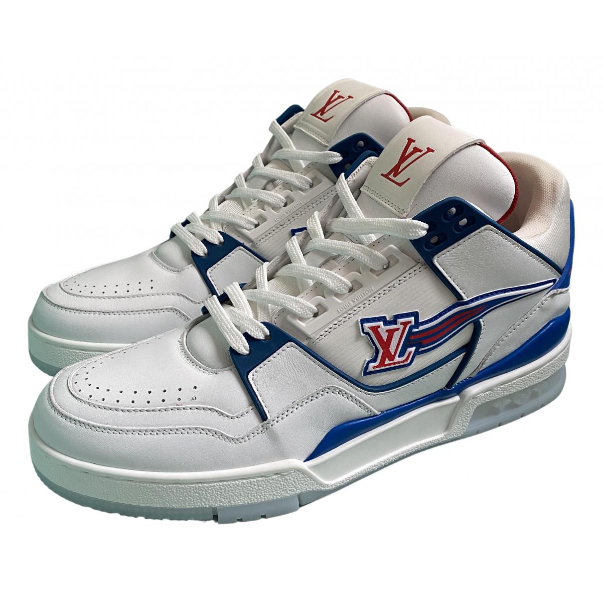 Louis Vuitton - Baskets LV Trainer pour homme en cuir - blanc