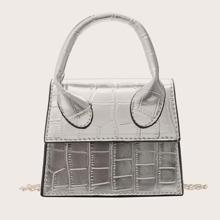 Mini Handtasche mit Krokodil Praegung