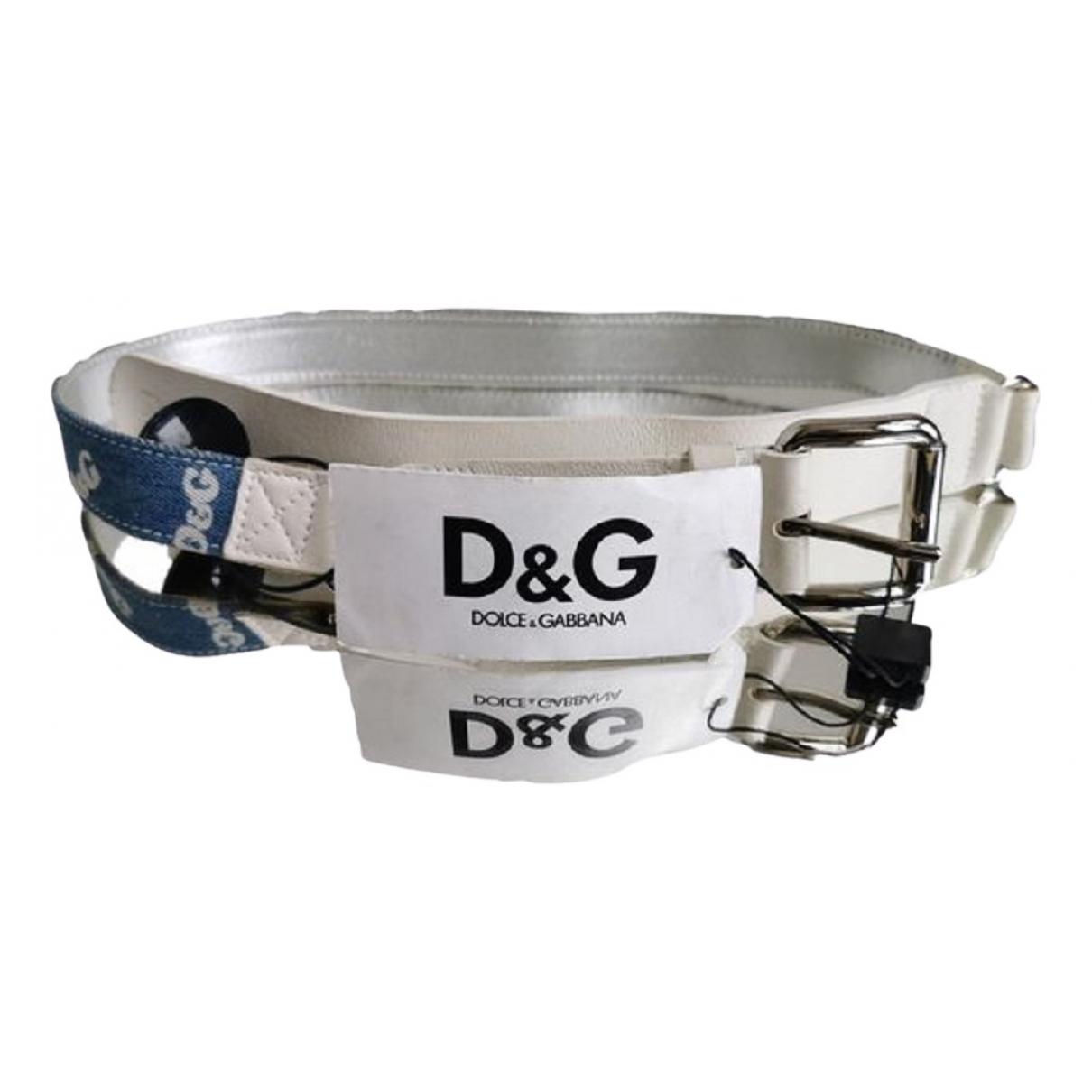 D&g N Blue Leather belt for Women 85 cm