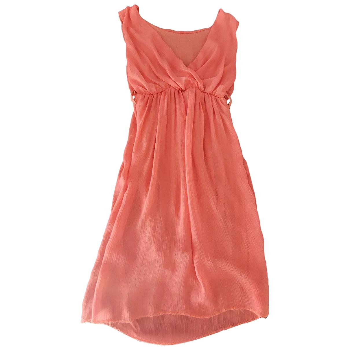 Non Signe / Unsigned \N Kleid in  Rosa Viskose