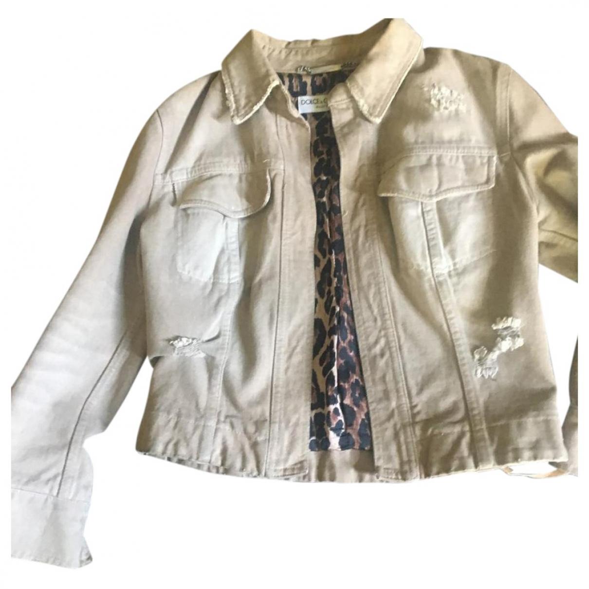 Dolce & Gabbana \N Beige Denim - Jeans jacket for Women 40 IT