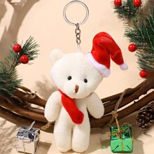 Christmas Bear Bag Charm