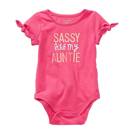 Okie Dokie Baby Girls Bodysuit, Newborn , Pink