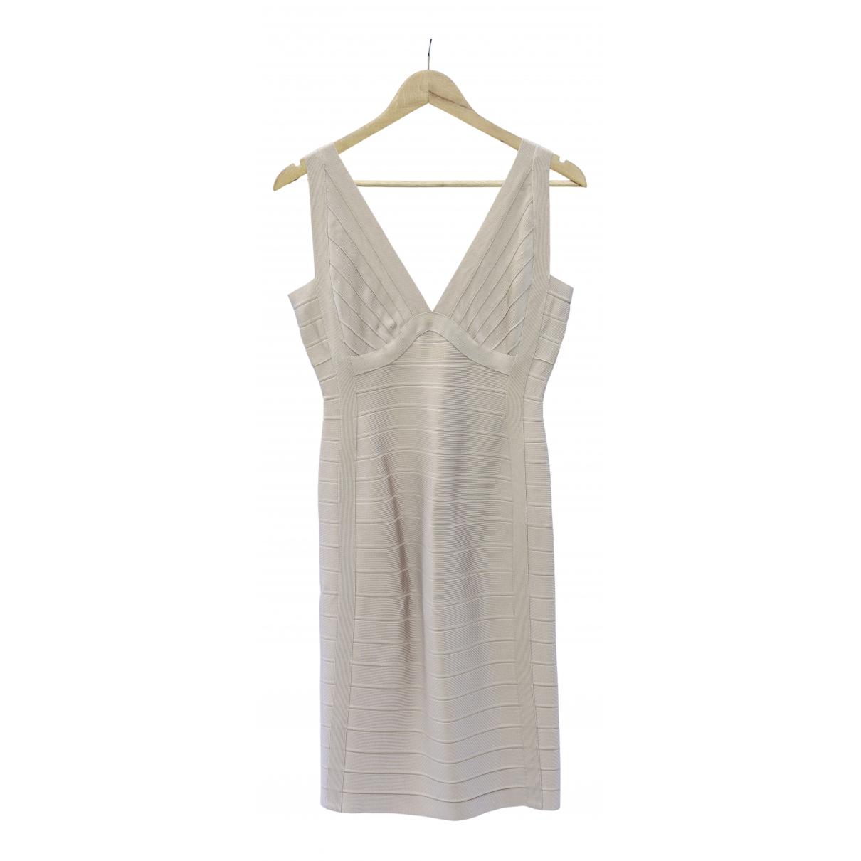 Herve Leger \N Kleid in  Beige Viskose