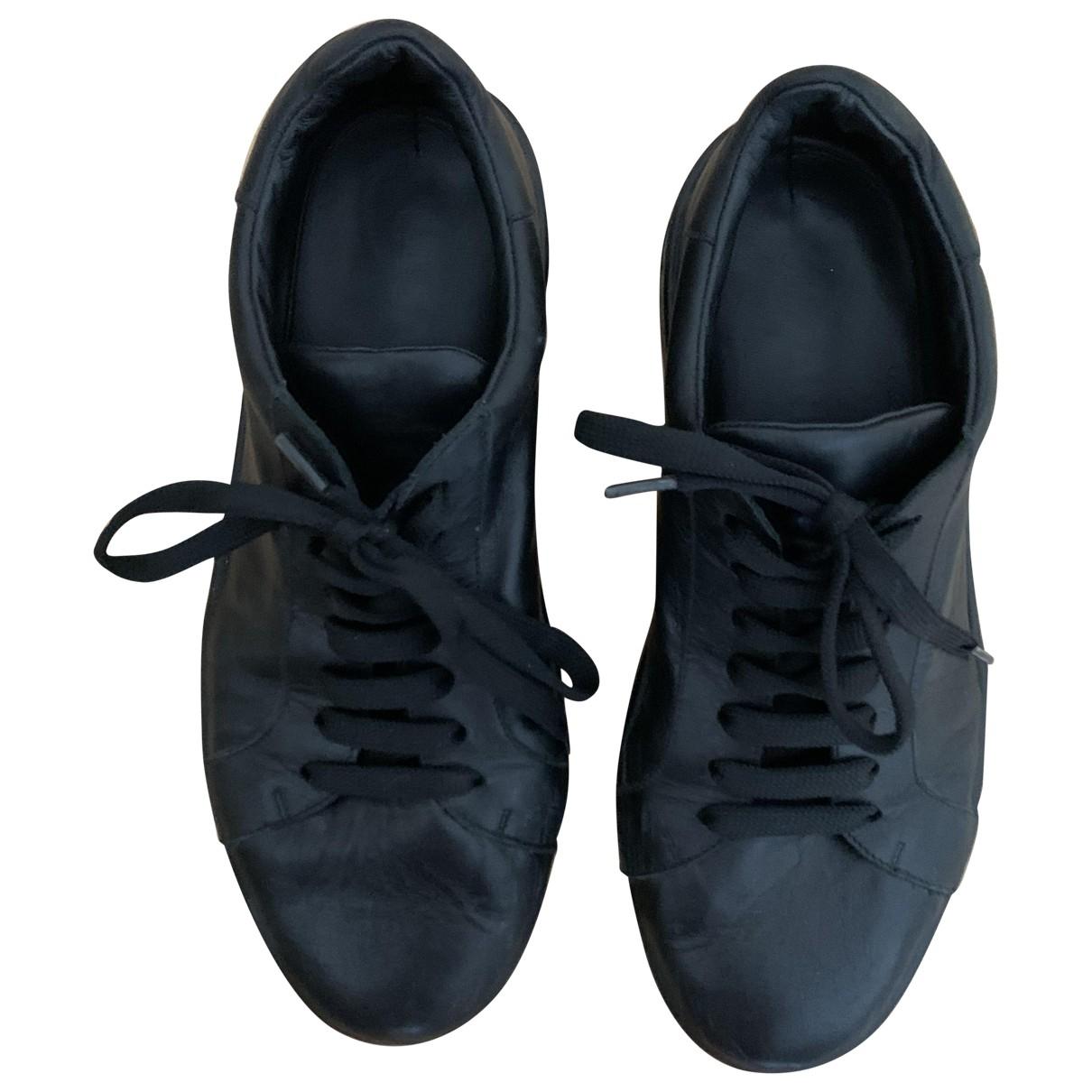 Jil Sander \N Sneakers in  Schwarz Leder
