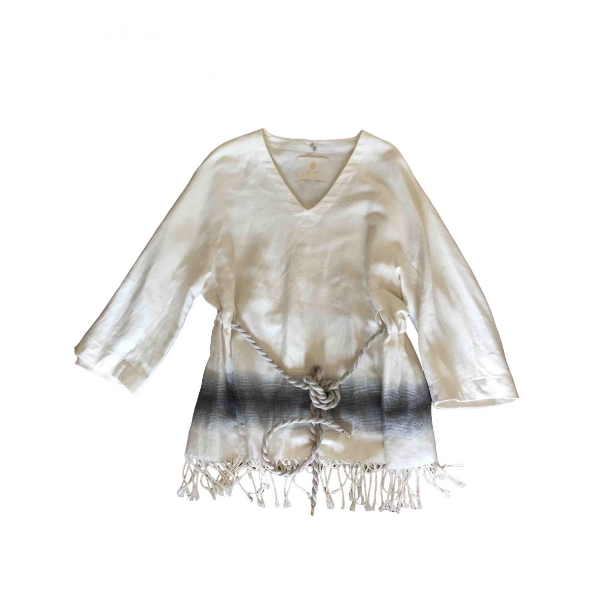Dondup \N Ecru Linen  top for Women 42 IT
