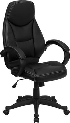 H-HLC-0005-HIGH-1B-GG High Back Black Leather Contemporary Office