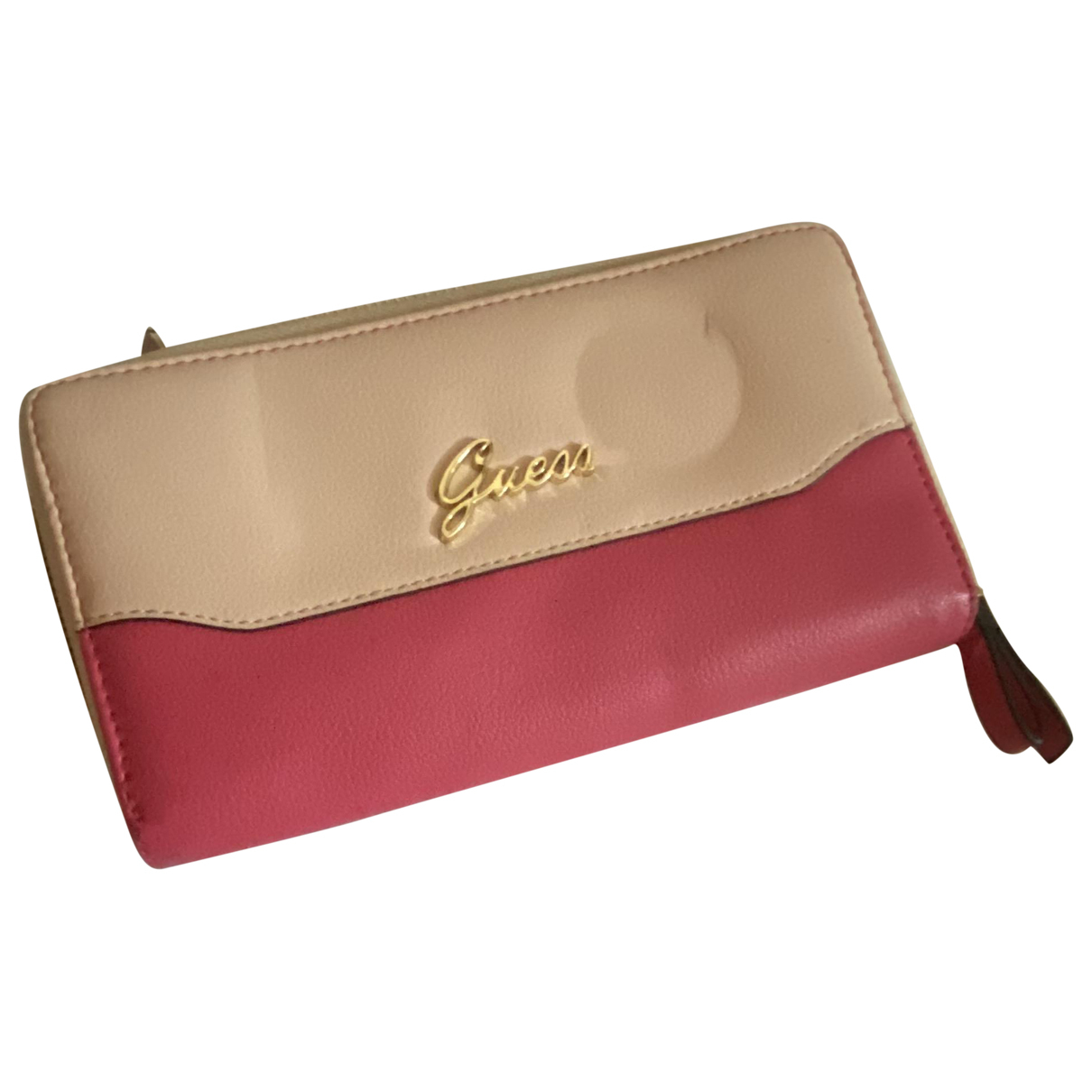 Guess \N Clutch in  Rosa Leder