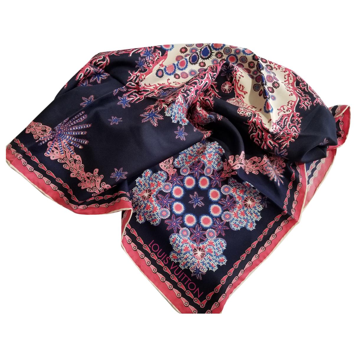 Louis Vuitton N Navy Silk scarf for Women N