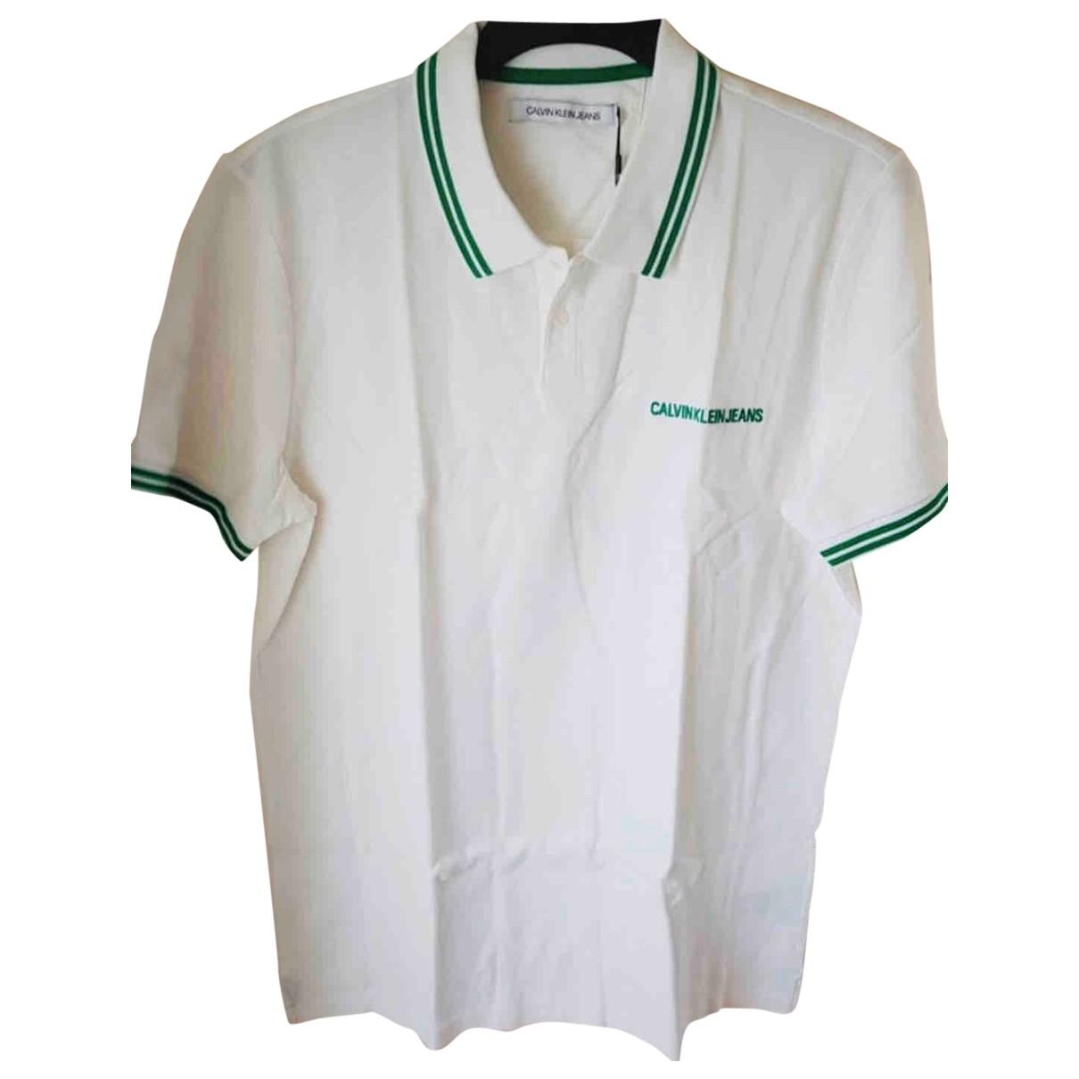 Calvin Klein - Polos   pour homme en coton - blanc