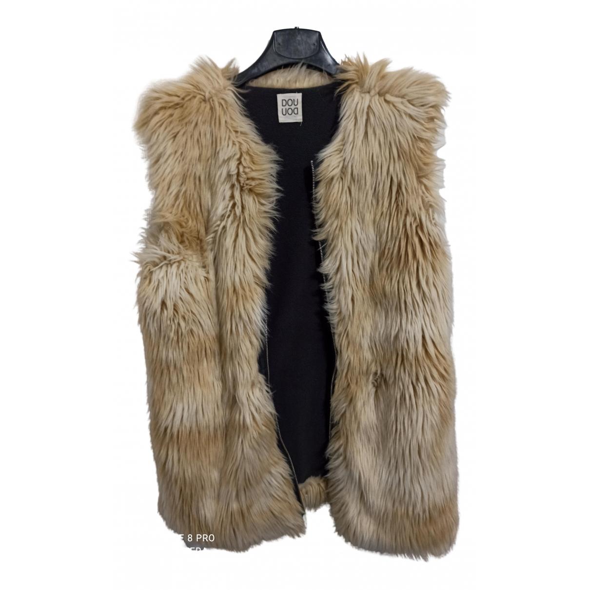 - Manteau   pour femme en fourrure synthetique - beige