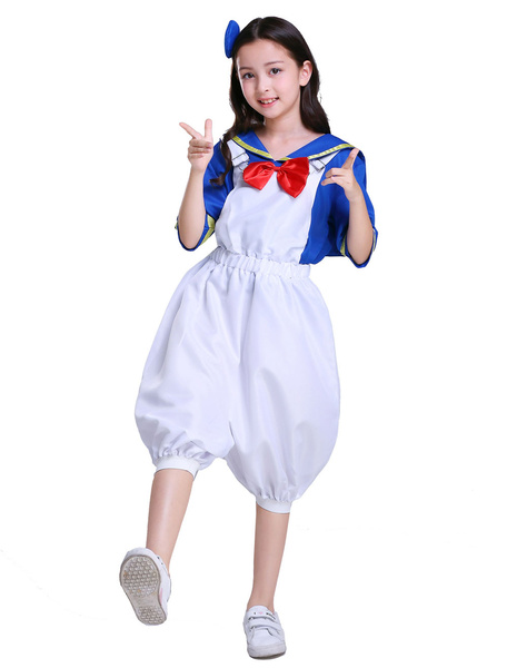Milanoo Duck Costume Halloween Women Sailor Short Costumes Outfit