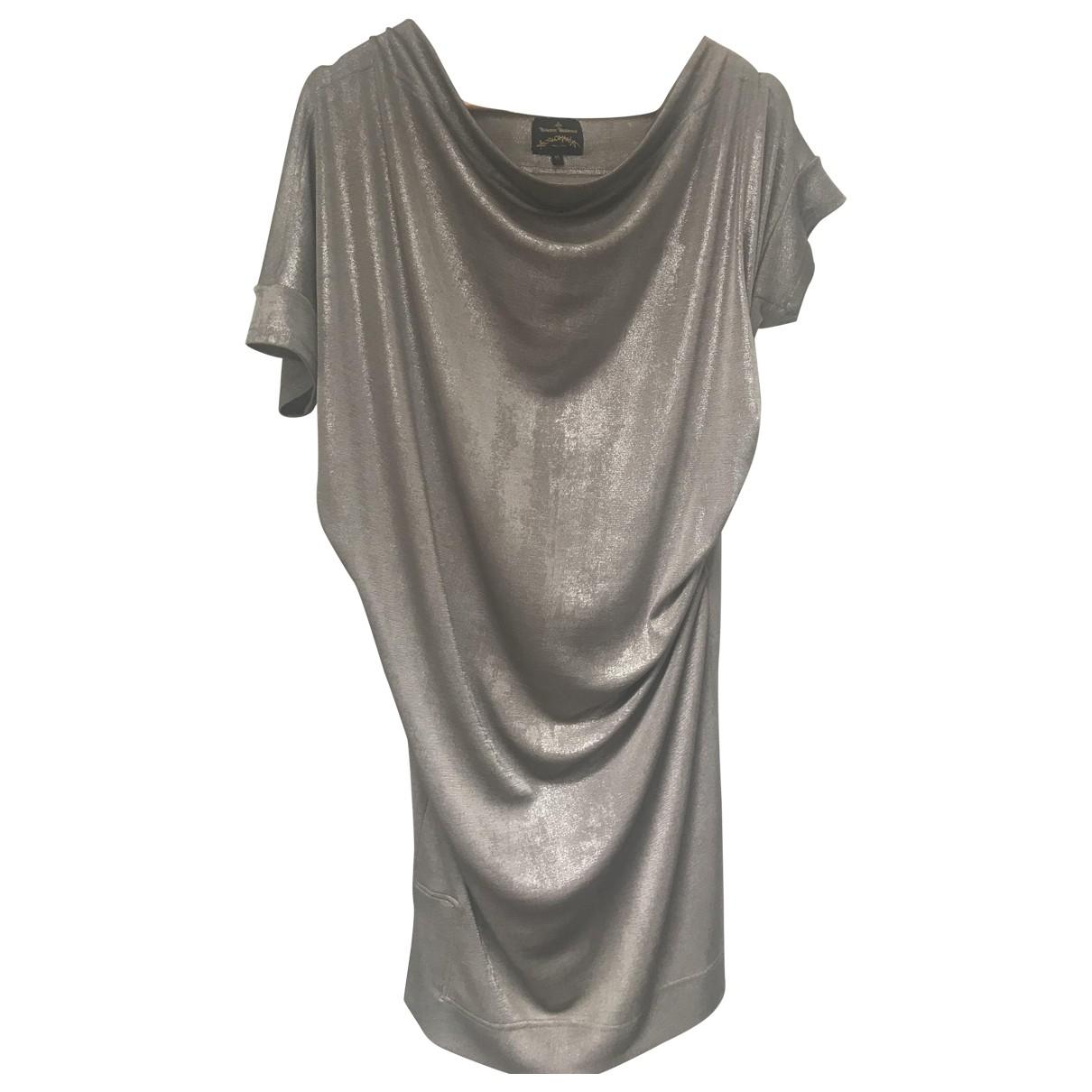 Vivienne Westwood Anglomania \N Kleid in  Grau Viskose