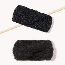 2pcs Simple Knit Headband