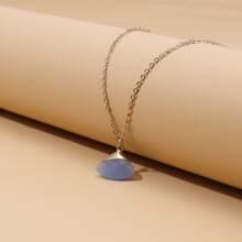 Halskette mit Stein Dekor