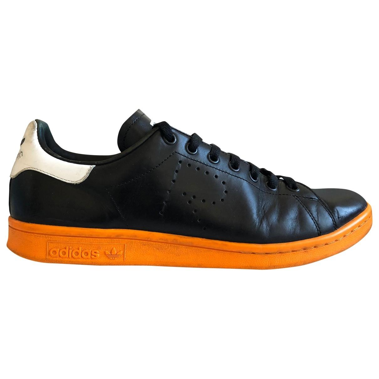 Adidas X Raf Simons Stan Smith Sneakers in  Schwarz Leder