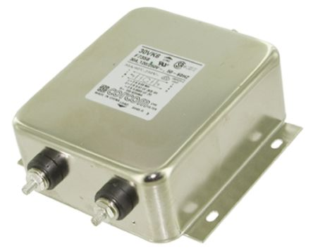 TE Connectivity EMI Filter - 4.2in Length, 30 A, 250 V ac
