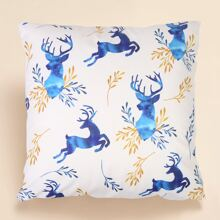 Elk Print Cushion Cover Without Filler