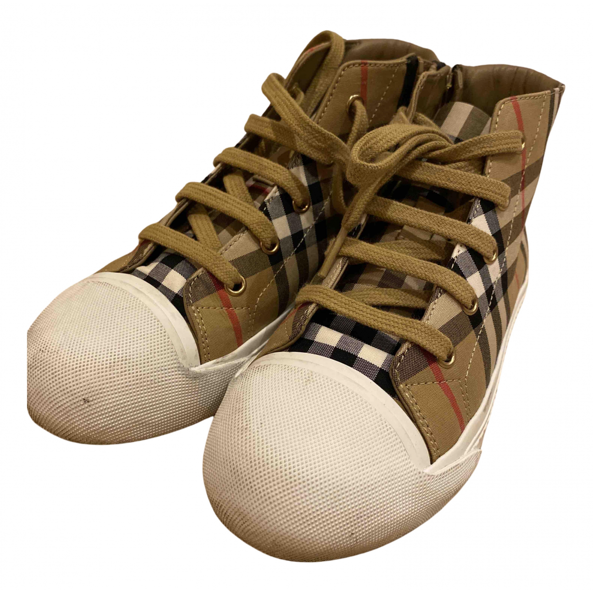 Burberry N Beige Cloth Trainers for Kids 32 FR