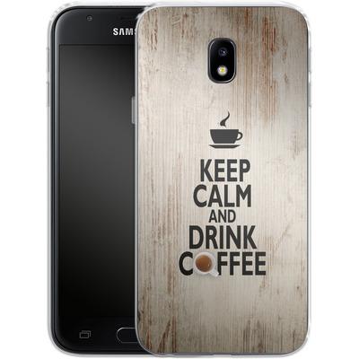 Samsung Galaxy J3 (2017) Silikon Handyhuelle - Drink Coffee von caseable Designs