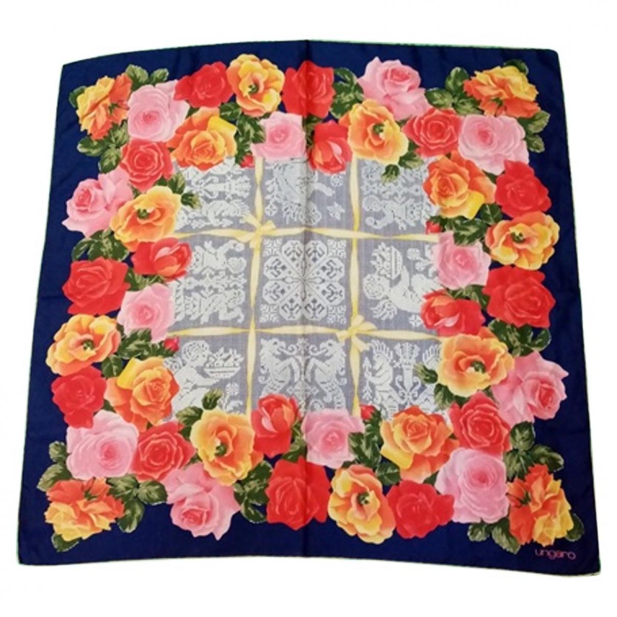 Emanuel Ungaro - Foulard   pour femme en soie - multicolore