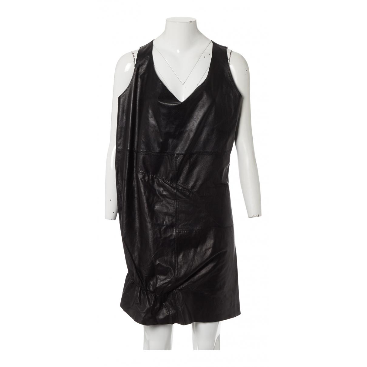 Comme Des Garcons \N Kleid in  Schwarz Leder