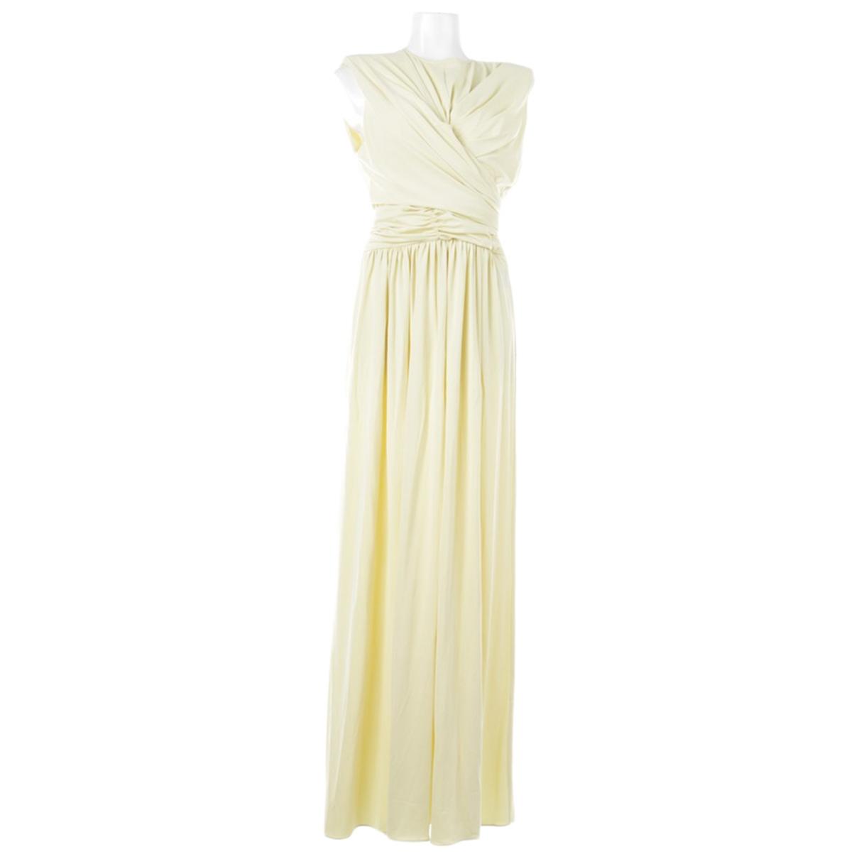 Isabel Marant \N Kleid in  Gelb Baumwolle