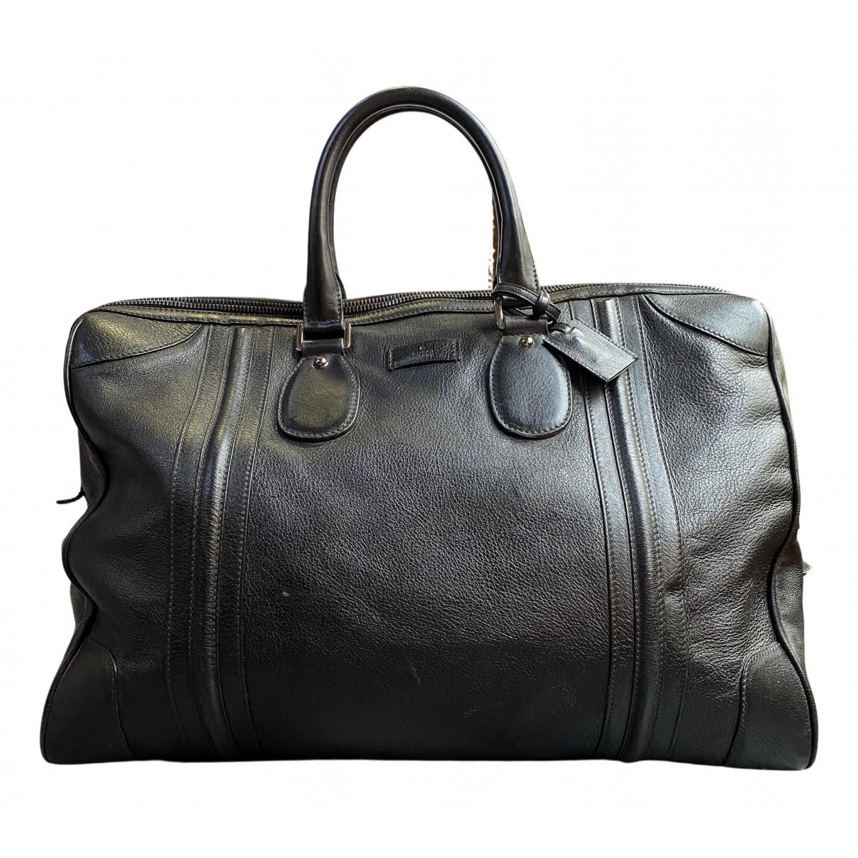 Gucci - Sac de voyage   pour femme en cuir - noir
