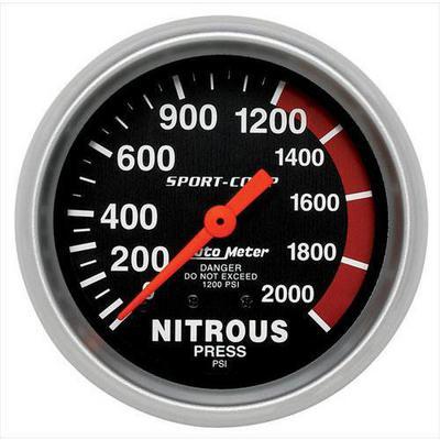 Auto Meter Sport-Comp Mechanical Nitrous Pressure Gauge - 3428