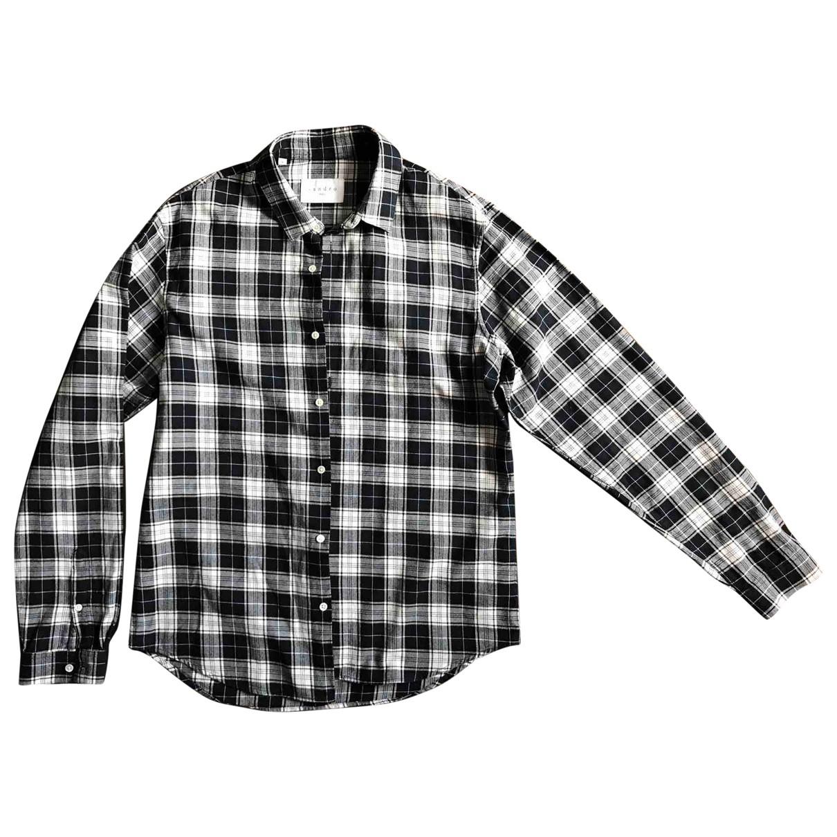 Sandro \N Blue Cotton Shirts for Men XL International