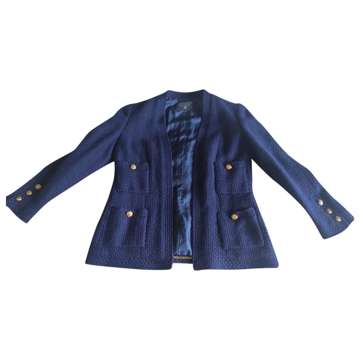 Chanel \N Blue Wool jacket for Women 36 FR