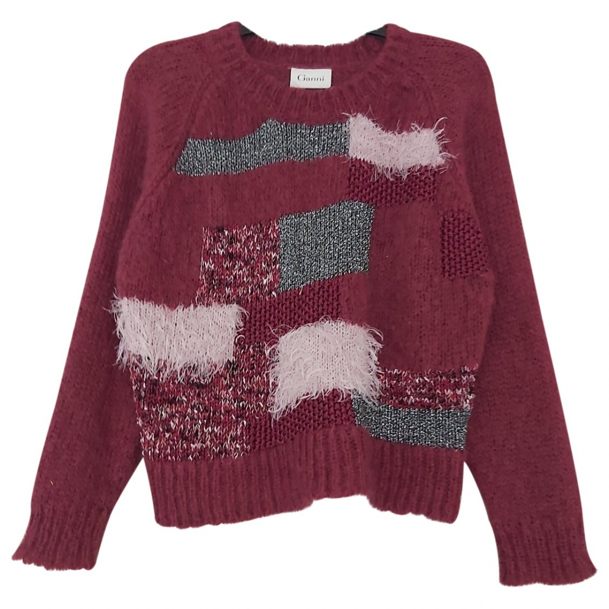 Ganni \N Pullover in  Bordeauxrot Wolle