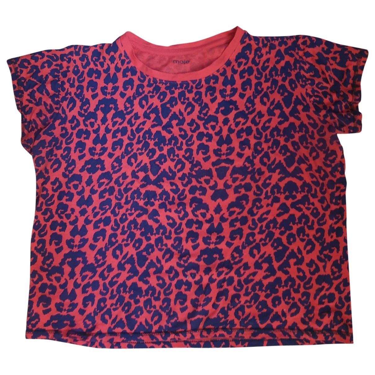 Maje - Top   pour femme en coton - rouge