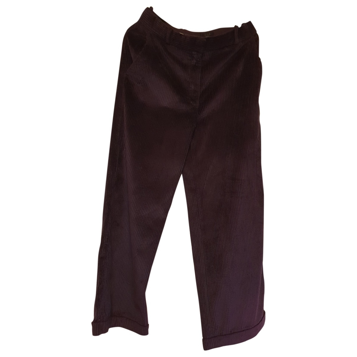 Cos \N Purple Velvet Trousers for Women 40 FR