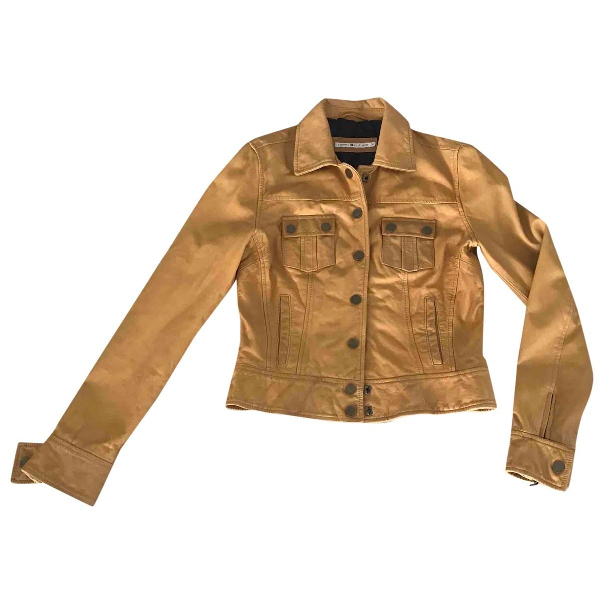 Tommy Hilfiger - Veste   pour femme en cuir
