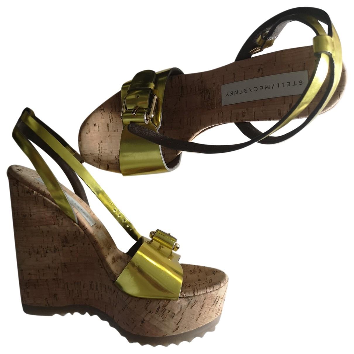 Stella Mccartney - Sandales   pour femme en cuir - jaune