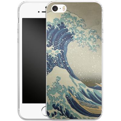 Apple iPhone SE Silikon Handyhuelle - Great Wave Off Kanagawa By Hokusai von caseable Designs