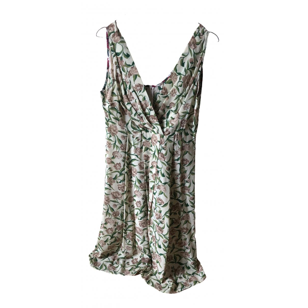 Attic And Barn - Robe   pour femme en soie - jaune
