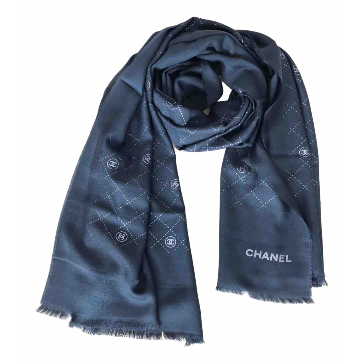 Chanel \N Anthracite Wool scarf for Women \N