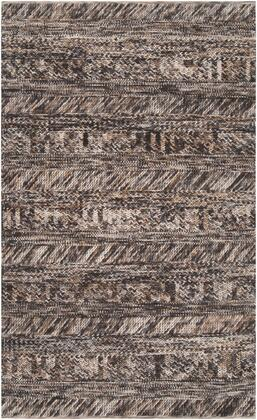 Norway NOR-3701 5' x 8' Rectangle Modern Rug in Charcoal  Light Gray  Camel