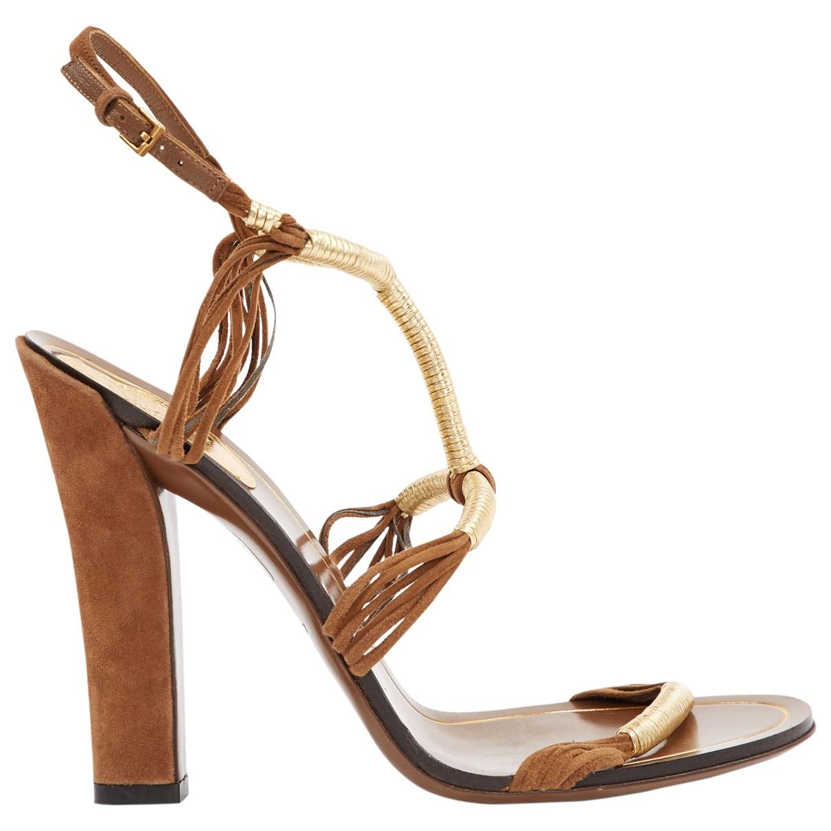 Gucci \N Brown Suede Heels for Women 37.5 EU